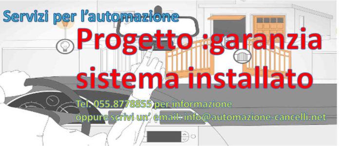 Automazione garanzia sistema installato