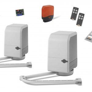KT-BL STEALTH Kit completo CARDIN con motori 24V per cancelli ante battenti con bracci articolati